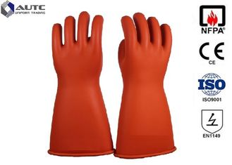 Acid Protection Dupont PPE Safety Gloves , Fire Safety Hand Gloves For Hazardous Chemicals