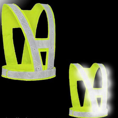 Sanitation  LED Reflective Traffic Light Emitting PPE Safety Wear Vest